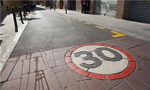 Simulação de uma área onde existe a Zona 30