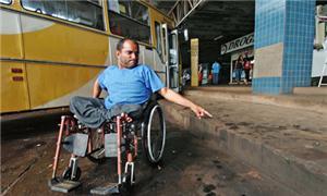 Sistema de transporte público não é adaptado