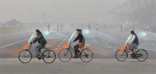 Smog Free Bike, projetada pelo Studio Roosegaarde