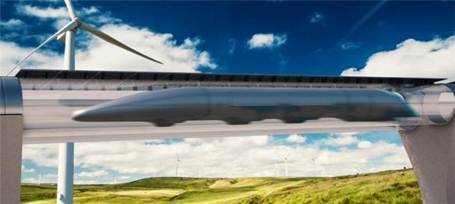 Super trem Hyperloop flutua sobre trilhos com levi