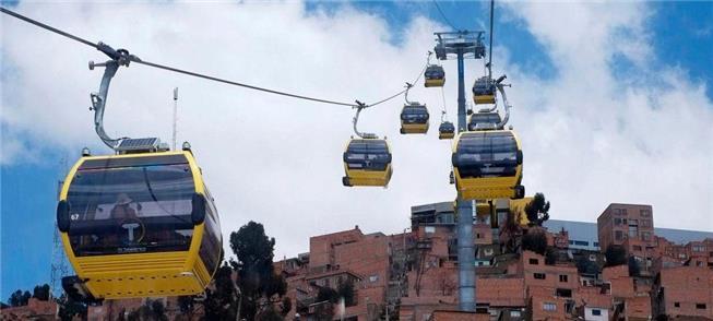 Teleférico em La Paz, Bolívia, o mais extenso (e a