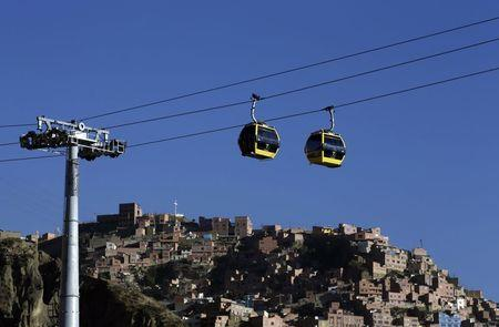 Teleférico em La Paz