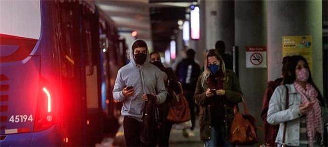 Terminal de ônibus de Florianópolis, na semana pas