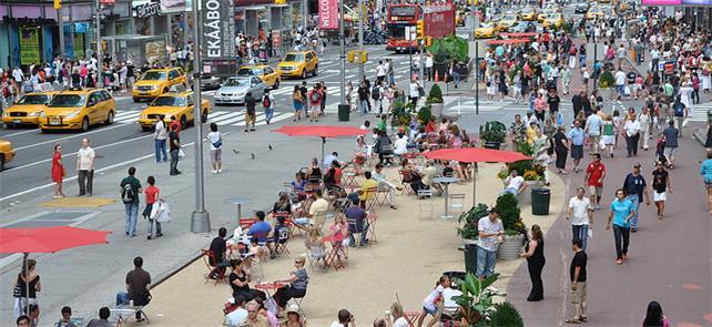 Times Square (NY): as pessoas ganharam mais espaço