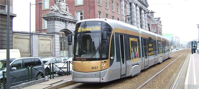 Tram (bonde ou VLT) em Bruxelas