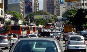 Trânsito carregado na capital