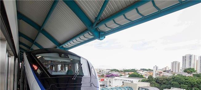 Trecho entre as estações Vila Prudente-Oratório, e