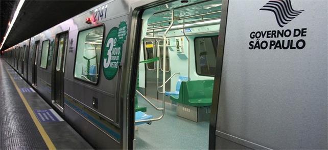 Trem da Linha 2-Verde do Metrô
