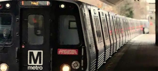 Trem da Linha Vermelha em Washington