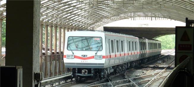 Trem da primeira geração do metrô de Pequim, de 19