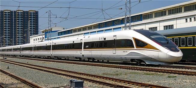 Trem de alta velocidade na linha entre Beijing e Z