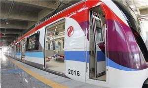 Trem do metrô na Estação Pirajá, em Salvador