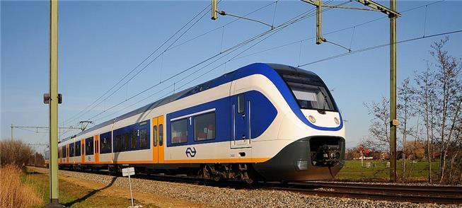 Trem holandês que faz ligação entre cidades da Ran