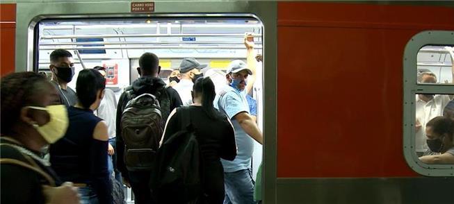 Trem urbano: desigualdade social sob a pandemia