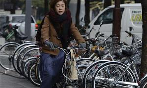 Tsukinista é quem usa a bike para ir ao trabalho