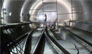 Túnel da estação Adolfo Pinheiro da Linha 5 - Lilá