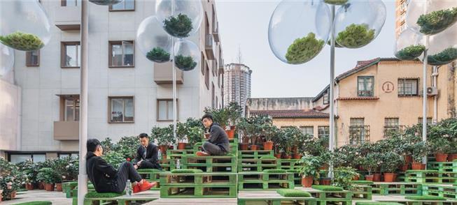 Urban Bloom, em Xangai: estacionamento que virou j