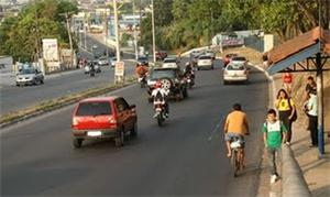 Via pública em Manaus